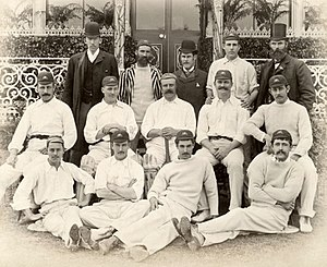 Sammy Jones - Jones right front row pictured with the 1890 Australia national cricket team