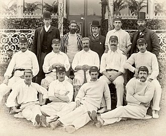 Jack Barrett (cricketer) - Barrett pictured 2nd right back row with the 1890 Australia national cricket team