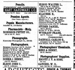 1890 photographers Louisville Kentucky city directory.png