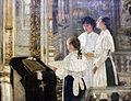 1895 Konovalov Schulmaedchen in der Kathedrale anagoria.JPG