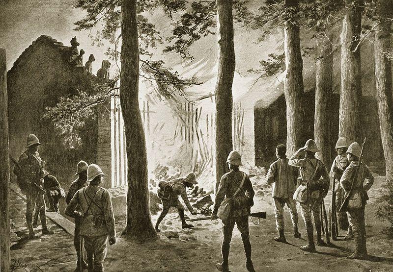 1900 China war, burning of the Temple.jpg