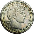 1903 proof Barber quarter obverse.jpg