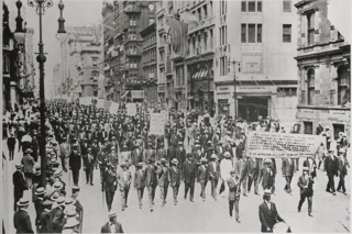 Silent Parade 1917 protest in New York City
