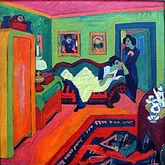 Interior com duas mulheres