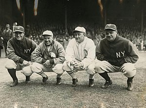 Lou Gehrig - Gehrig, Tris Speaker, Ty Cobb, and Babe Ruth, 1928