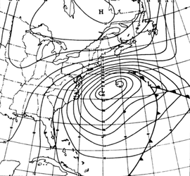 1962 Ash Wednesday nor'easter surface weather analysis.png