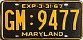 1966-67 Maryland license plate.JPG