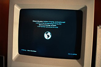 Computer virus - The MacMag virus 'Universal Peace', as displayed on a Mac in March 1988
