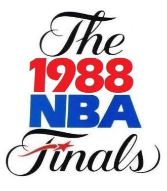 1988 NBA Finals - Image: 1988NBAFinals