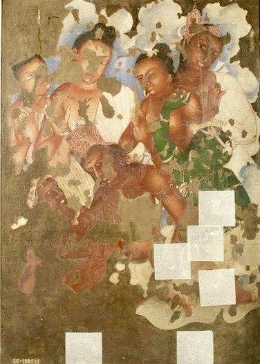 19th century copy of 1st century BCE to 5th century CE Ajanta Cave 2 painting b