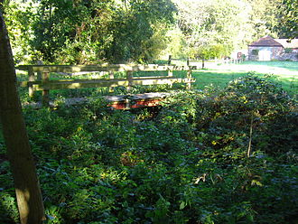River Mun - A footbridge over the River Mun at Frogshall