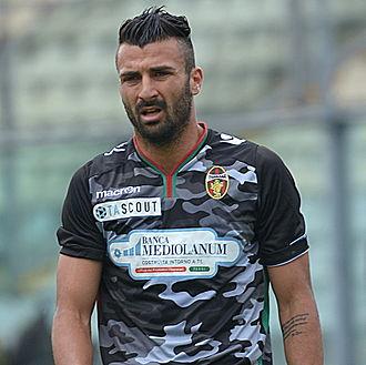 Fabio Ceravolo - Ceravolo in action during the match Modena vs. Ternana