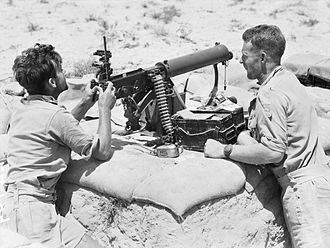 2/2nd Machine Gun Battalion (Australia) - Image: 2 2nd MG Bn at Tel el Eisa (AWM photo 024709)