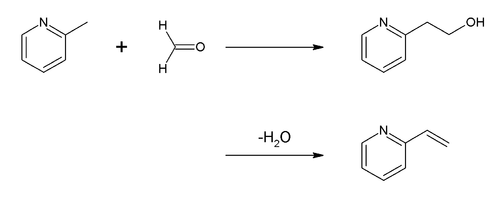 Synthese van 2-vinylpyridine