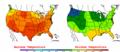 2002-09-04 Color Max-min Temperature Map NOAA.png