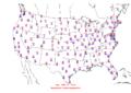 2006-02-20 Max-min Temperature Map NOAA.png