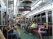 Passengers riding the Buenos Aires Metro, 2006. subte de buenos aires