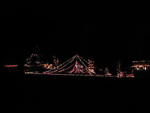 2006 outdoor Christmas light display in Cincinnati OH