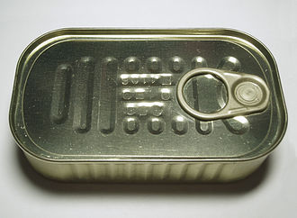 Canned fish - Image: 2006 sardines can