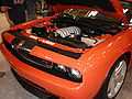 2009 red Dodge Challenger SRT8 engine.JPG