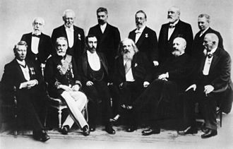 Thomas Edward Thorpe - Thomas Thorpe (top row, right) and other prominent chemists