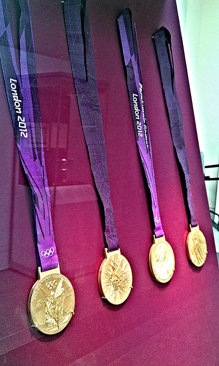 Medals of London 2012 Olympics 2012 Olympic Games Medal, Britain 2011.jpg