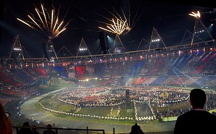 Fireworks at the opening ceremony 2012 Olympics opening ceremony fireworks 1.jpg