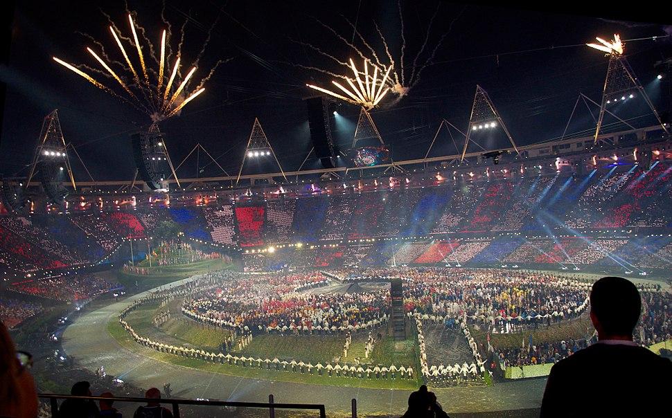 2012 Olympics opening ceremony fireworks 1