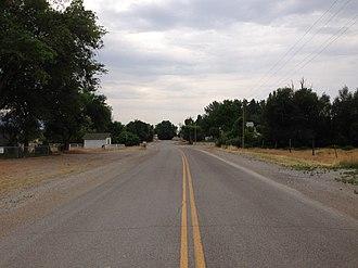 Preston, Nevada - SR 895 in Preston