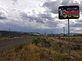 2014-08-19 14 37 13 Welcome to Nevada sign at the north end of Nevada State Route 225 (Mountain City Highway) in Owyhee, Nevada.JPG