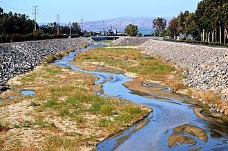 San Diego Creek - San Diego Creek at Alton Parkway in Irvine