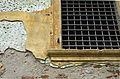 2014 giu Villa Pellegrini Marioni Pullè, Chievo, Verona, photo Paolo Villa Lodge, facade, Doric - Tuscan order, pilaster strip, window, plaster fell FOTO6339bis.jpg