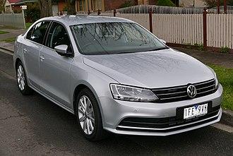 Volkswagen Jetta - Image: 2015 Volkswagen Jetta (1B MY15) 118TSI Comfortline sedan (2015 08 07) 01