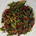 2016-08-20 Stir fried beef slices with celery in a Beijing Restaurant anagoria.jpg