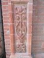 2018-04-01 Cosseyware terracotta brickwork decorative panel, Brook street, Cromer (1).JPG