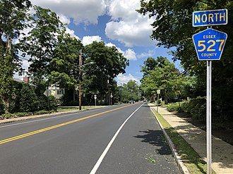Essex Fells, New Jersey - County Route 527 in Essex Fells