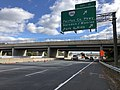 2018-10-24 11 59 59 View east along Virginia State Route 267 (Dulles Toll Road) at Exit 11 (Virginia State Route 286-Fairfax County Parkway, Herndon-Monroe Park and Ride) in McNair, Fairfax County, Virginia.jpg