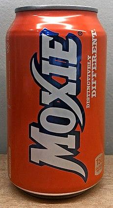 Moxie carbonated beverage