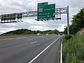 2019-05-17 13 11 07 View west along Interstate 68 and U.S. Route 40 and south along U.S. Route 220 (National Freeway) at Exit 42 (SOUTH U.S. Route 220-Greene Street, McCoole, Keyser WV) in Cumberland, Allegany County, Maryland.jpg
