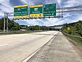 2019-05-21 11 57 59 View north along Interstate 895A (Glen Burnie Bypass) at Exit 17B (Interstate 695 EAST, Key Bridge, Dundalk) on the edge of Linthicum and Ferndale in Anne Arundel County, Maryland.jpg