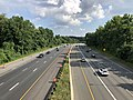 2019-07-05 17 24 25 View south along Interstate 270 Spur from the overpass for Westlake Terrace along the edge of North Bethesda and Potomac in Montgomery County, Maryland.jpg