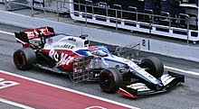 2020 Formula One tests Barcelona, Williams FW43, Russell.jpg