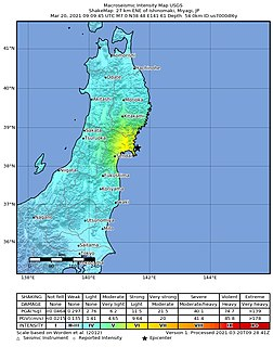 March 2021 Miyagi earthquake Earthquakes in Japan