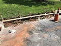 2021-07-13 11 48 24 A removed section of curb ready for replacement along Tranquility Court in the Franklin Farm section of Oak Hill, Fairfax County, Virginia.jpg