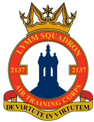Lymm - This shows the badge of 2137 (Lymm) Squadron.