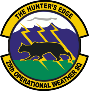 25th Operational Weather Squadron - 25th Operational Weather Squadron Patch