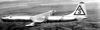 28th Bomb Wing - 28th Strategic Reconnaissance Wing Convair RB-36D Peacemaker, AF Ser. No. 49-2688, with Tail Code Triangle-S, circa 1951