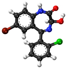 3-Hydroxyphenazepam ball-and-stick model.png