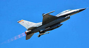 301st Fighter Squadron - F-16 of the 301st Fighter Squadron taking off from Luke AFB