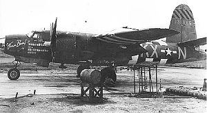 RAF Stoney Cross - Martin B-26B-15-MA Marauder Serial 41-31665 of the 558th Bomb Squadron
